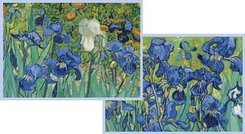 Caspari Boxed Note Cards, Van Gogh Irises, Box of 8 (87609.46)