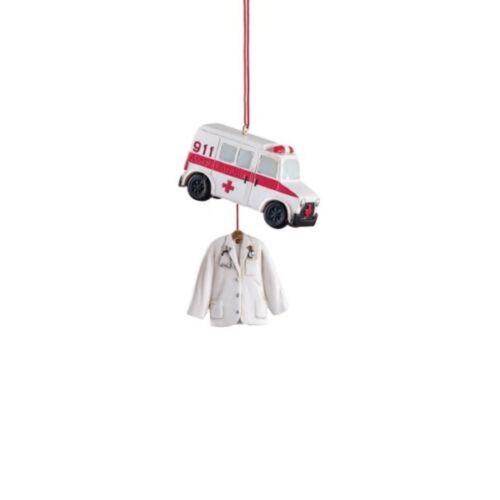 Midwest CBK - Ambulance & Coat Dangle Ornament (102329A)