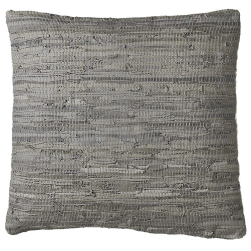 Midwest CBK Leather Grey Leather Chindi Floor Pillow (159598)