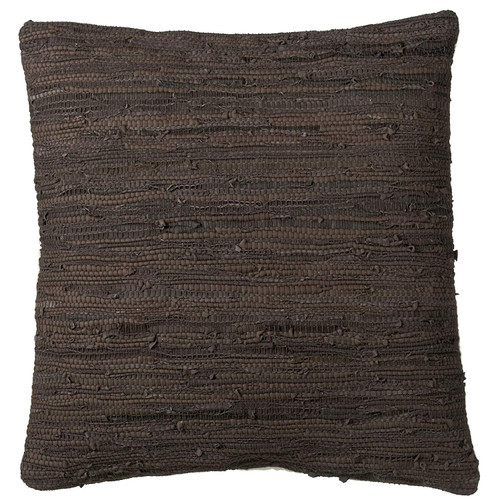 Midwest CBK Leather Brown and Black Leather Chindi Floor Pillow (159601)