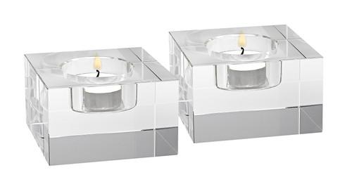 Badash - Dakota Crystal Brick Tea Lights, Set of 2 (YD262)
