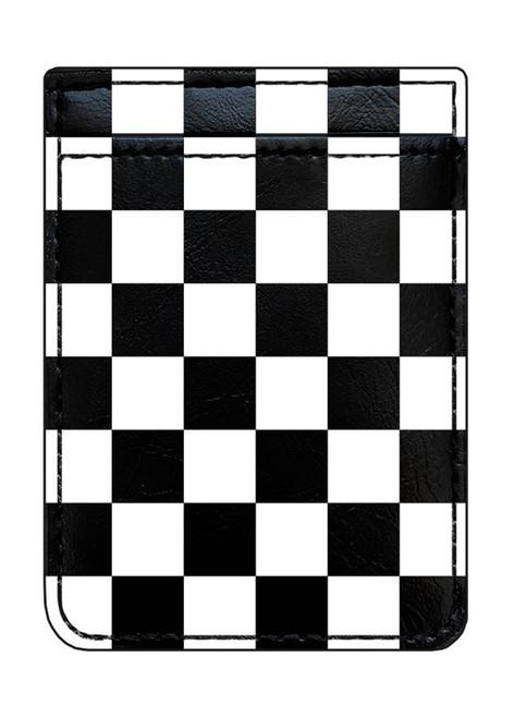 iDecoz Phone Pocket, Black & White Checker