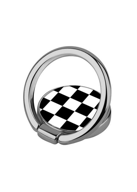 iDecoz Phone Ring, Black & White Checker