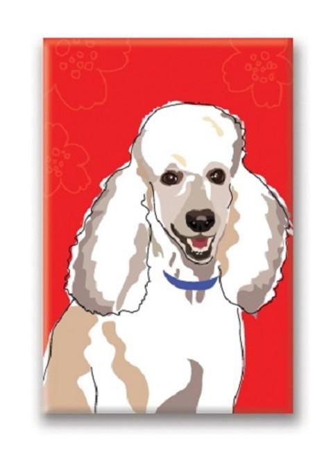 Paper Russells White Poodle Fridge Magnet