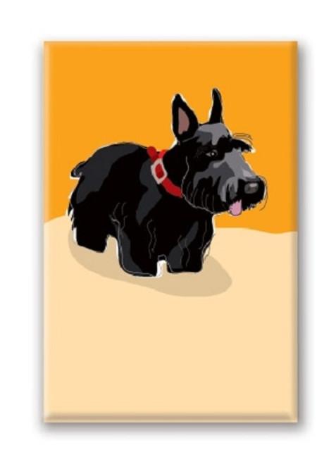 Paper Russells Scottish Terrier Fridge Magnet