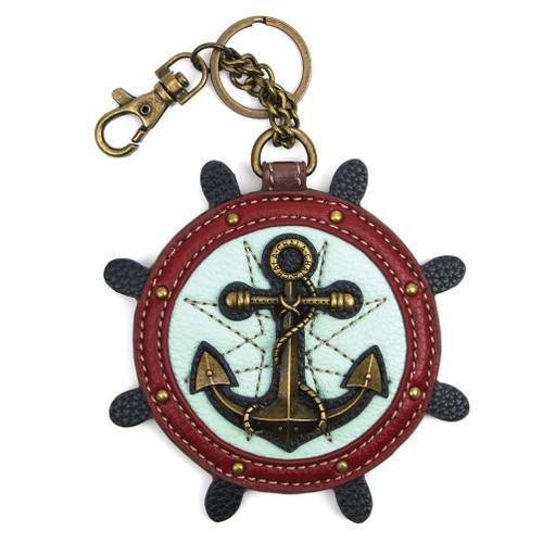 Chala Coin Purse/Key Fob, Anchor