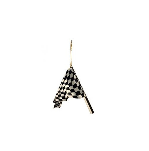 Green Tree Jewelry Ornament - Racing Flag
