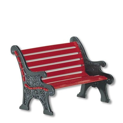 Department 56 Village Accessories Red Wrought Iron Park Bench