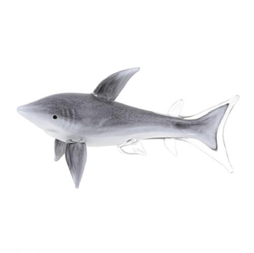 Badash Murano Style Glass Shark Art (J579)