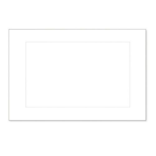 C.R. Gibson Paneled Informal Notes, White, Box of 20