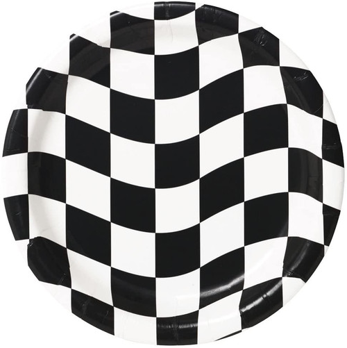 CEG Paper Lunch Plates, Black & White Check (419944)