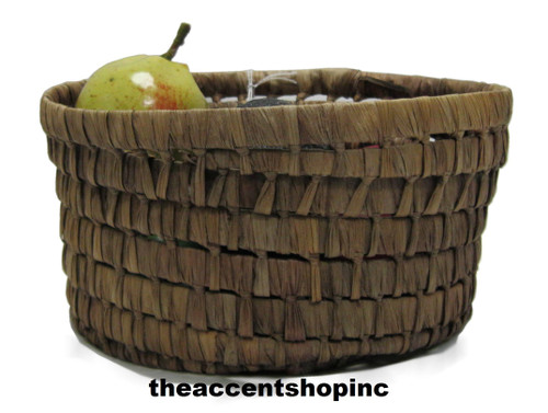 TAG Chestnut Round Maize Basket, Small
