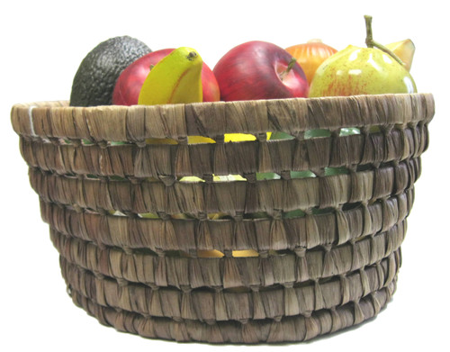 TAG Chestnut Round Maize Basket, Medium