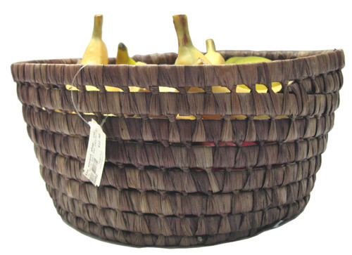 TAG Chestnut Round Maize Basket, Large