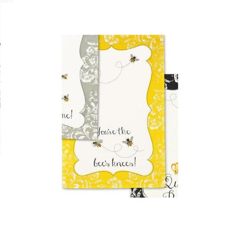 Design Imports - Busy Bees Dishtowel, Yellow