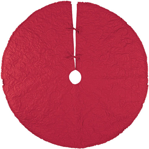 C&F Enterprises Drayton Scarlet Tree Skirt