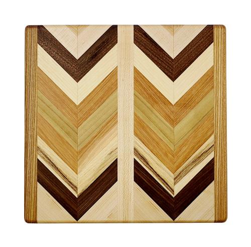 Wooden Herringbone Cutting Board, Small
