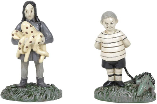 Department 56 Addams Family - The Kids With Their Pets