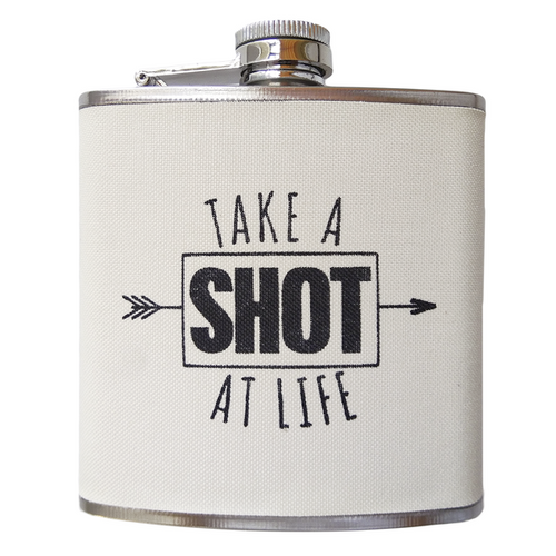 "Midwest CBK ""Take a Shot at Life"" Flask"