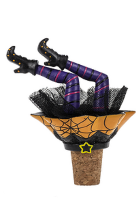 Ganz Halloween Wiggle Leg Witch Bottle Toppers, Webs