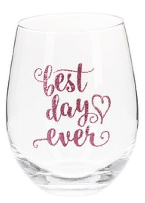 Ganz - Bride to Be Stemless Wine Glasses, Best Day Ever