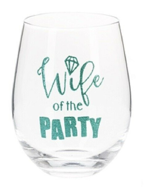 Ganz - Bride to Be Stemless Wine Glasses, Wife of the Party