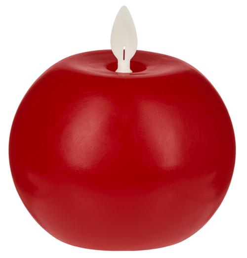 Ganz LED Wax 2pc Ball Candle Set, Red