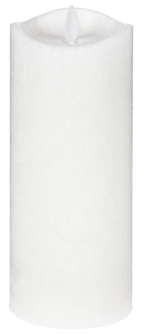 "Ganz LED Crystalline Wax 3x8"" Pillar, White"