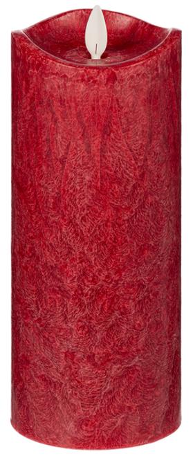 "Ganz LED Crystalline Wax 3x8"" Pillar, Red"