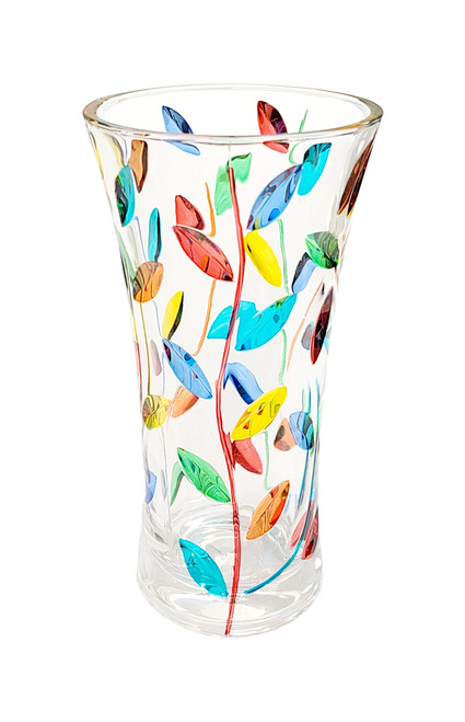 "Gage 10"" Tree of Life Vase, Multi-color"