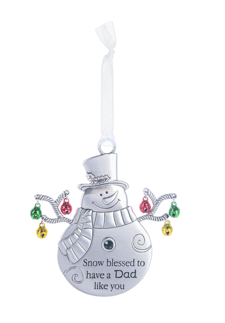 Ganz Jingle Snowman Ornament - Snow Blessed to Have a Dad Like You