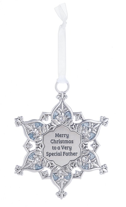 Ganz Snowflake Ornament - Merry Christmas to a Very Special Father