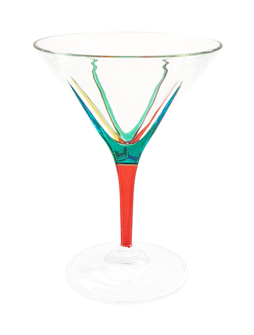 Gage Fusion Martini Glass, Red Stem