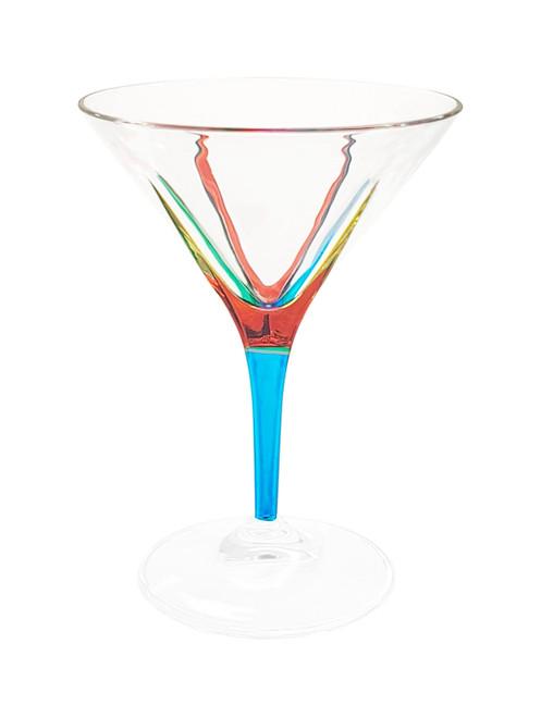 Gage Fusion Martini Glass, Light Blue Stem