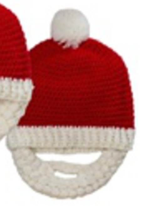 Midwest CBK Crocheted Hat with Beard, Adult
