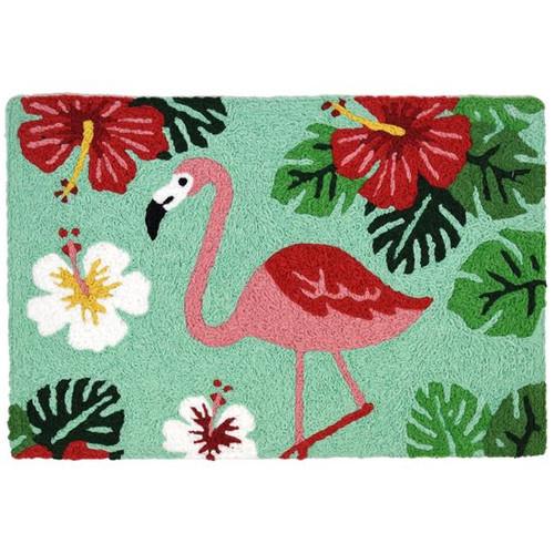 HCI Jellybean Rug - Flamingo & Hibiscus