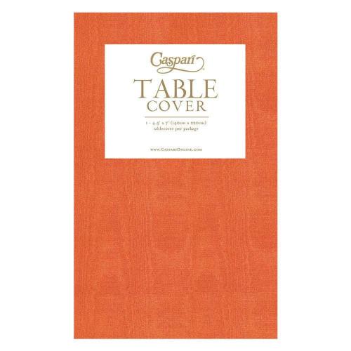 Caspari Paper Table Cover, Moiré Deep Orange (9735TCP)