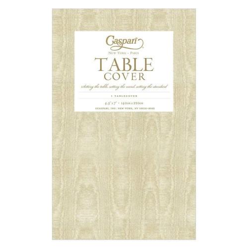 Caspari Paper Table Cover, Moiré Gold (972TCP)