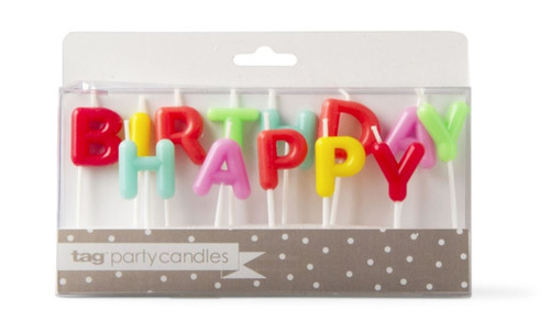 TAG Happy Birthday Candle Set