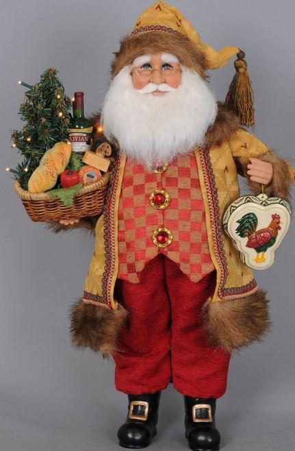Karen Didion Lighted Tuscan Cuisine Santa