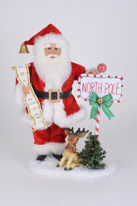 Karen Didion Lighted North Pole Santa