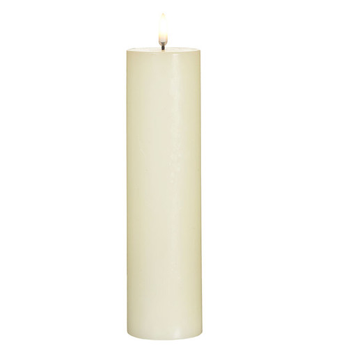 "Raz Imports 2.25"" x 9.75"" Ivory Pillar Candle"