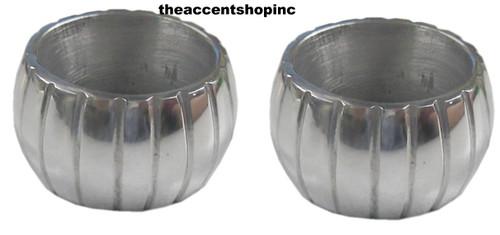 India Handicrafts Round Napkin Ring, Set of 2