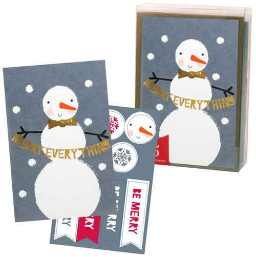 The Gift Wrap Company Boxed Holiday Cards, Snowmuch to Celebrate