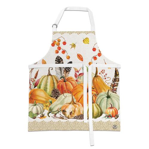 Michel Design Works Cotton Apron, Sweet Pumpkin