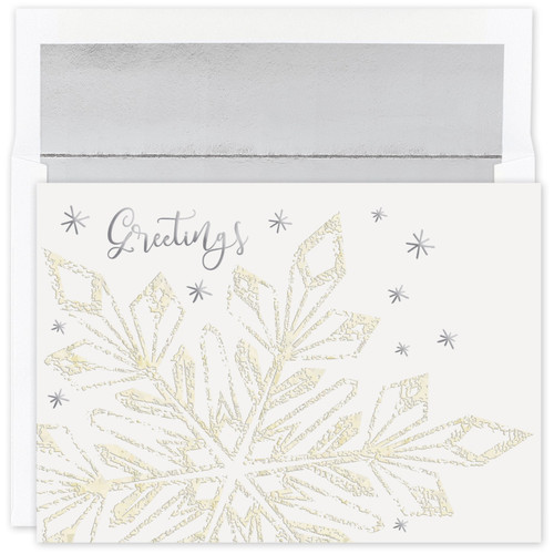 Masterpiece Studios Boxed Holiday Cards - Glittering Snowflake