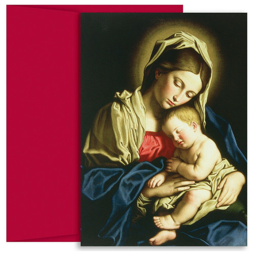 Masterpiece Studios Boxed Holiday Cards - Madonna & Child At Rest
