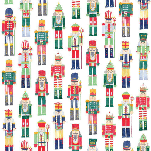 Caspari 8' Continuous Gift Wrap Roll, March of the Nutcrackers (9785RC)