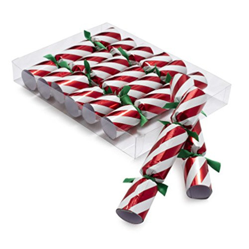 Robin Reed Holiday Crackers, Candy Cane, Pack of 8