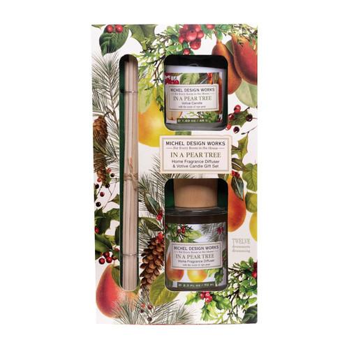 Michel Design Works Fragrance Diffuser & Votive Set, In a Pear Tree